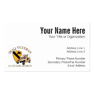 1st Cav Iraq Vet Humvee Double-Sided Standard Business Cards (Pack Of 100)