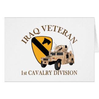 1st Cav Iraq Vet Humvee Card