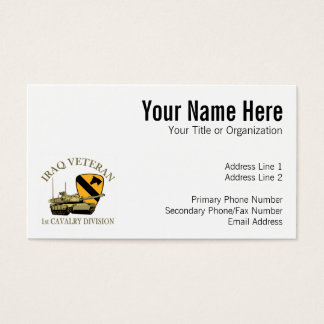 1st Cav Iraq Vet Tank Business Card