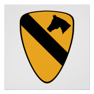 1st Cav Patch Poster