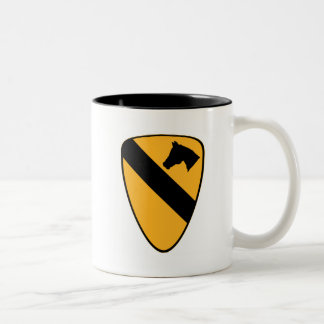 1st Cav Patch Two-Tone Coffee Mug