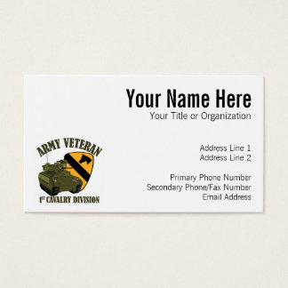 1st Cav Vet - Bradley Business Card