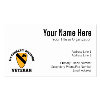 1st Cav Vet - College Style Business Card Template
