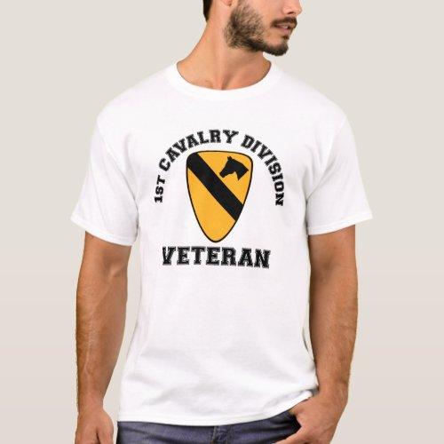 1st Cav Vet _ College Style T_Shirt