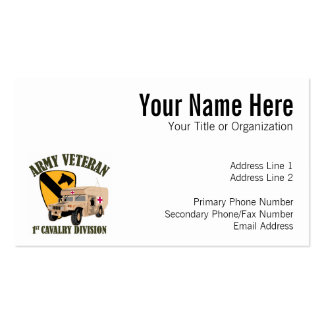 1st Cav Vet - Humvee Ambulance Double-Sided Standard Business Cards (Pack Of 100)