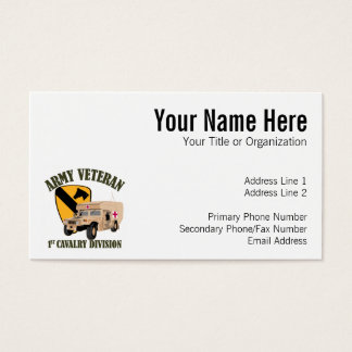 1st Cav Vet - Humvee Ambulance Business Card
