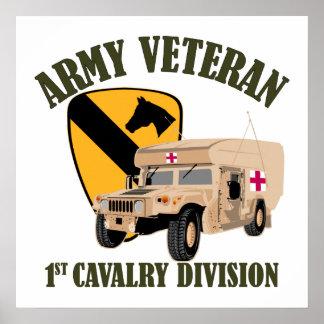 1st Cav Vet - Humvee Ambulance Poster