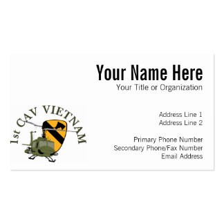 1st Cav Vietnam Double-Sided Standard Business Cards (Pack Of 100)