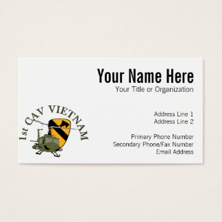 1st Cav Vietnam Business Card