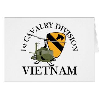 1st Cav Vietnam Vet Stationery Note Card