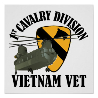 1st Cav Vietnam Vet - CH-47 Poster