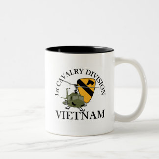 1st Cav Vietnam Vet Two-Tone Coffee Mug