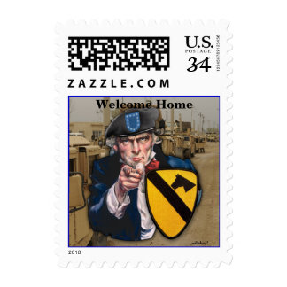1st cavalry air cav iraq patch postage stamps
