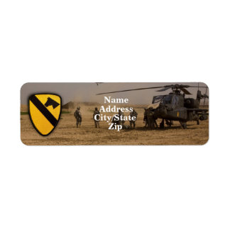 1st cavalry air cav vietnam nam war label