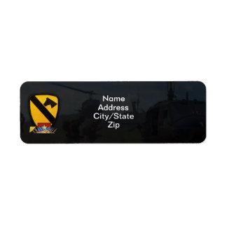 1st cavalry air cav vietnam nam war custom return address labels