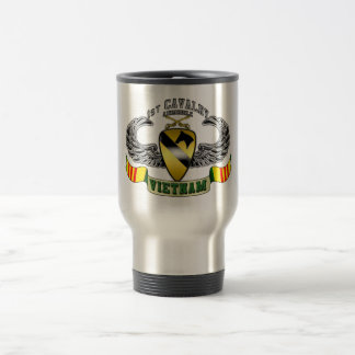 1st Cavalry-Airmobile, Vietnam 15 Oz Stainless Steel Travel Mug