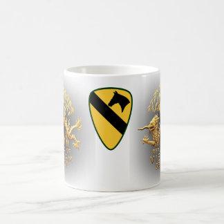 1st cavalry and Vietnam Service Dragon Classic White Coffee Mug