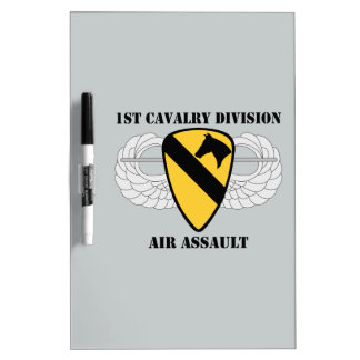 1st Cavalry Division Air Assault - With Text Dry Erase Board