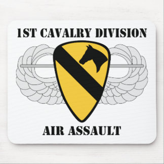 1st Cavalry Division Air Assault - With Text Mouse Pad