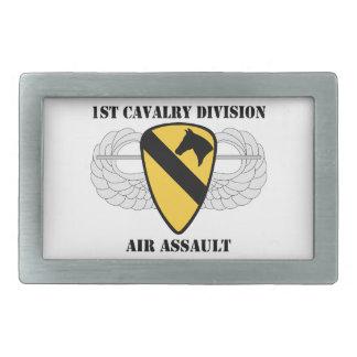 1st Cavalry Division Air Assault - With Text Rectangular Belt Buckle