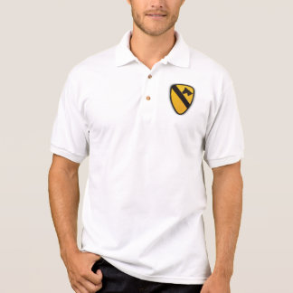 1st Cavalry Division Air Cav Patch polo shirt