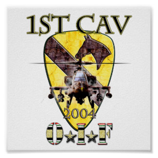1st Cavalry Division Apache 2004 OIF Poster