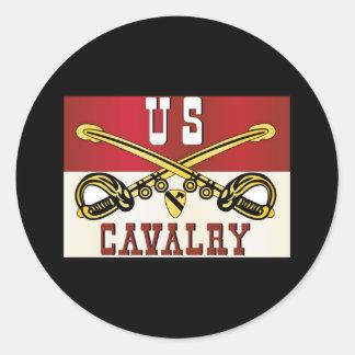 1st CAVALRY DIVISION Banner Classic Round Sticker