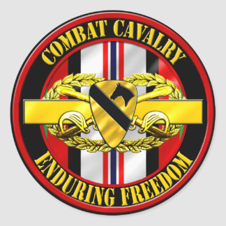 1st Cavalry Division Cavalry Scout OEF Classic Round Sticker