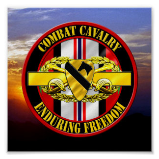 1st Cavalry Division Cavalry Scout OEF VETERAN Poster