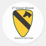 1st Cavalry Division Classic Round Sticker