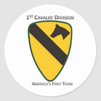 1st Cavalry Division Classic Round Sticker