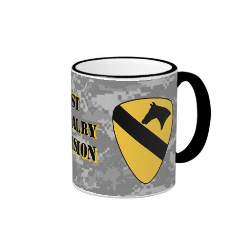 1st Cavalry Division Digital Urban Camo Coffee Mug