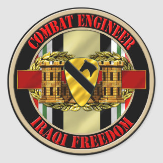 1st Cavalry Division Engineer OIF Stickers