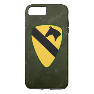 "1st Cavalry Division ""First Team"" Dark Green Camo iPhone 8 Plus/7 Plus Case"