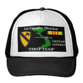 """1st Cavalry Division""""First Team""""Vietnam Ball Caps Trucker Hat"""