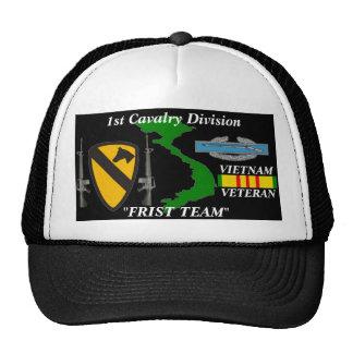 """1st Cavalry Division""""First Team"""" Vietnam Ball Caps Trucker Hat"""