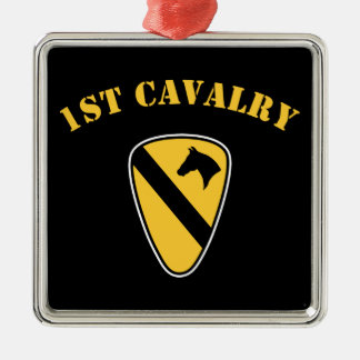 1st Cavalry Division Metal Ornament