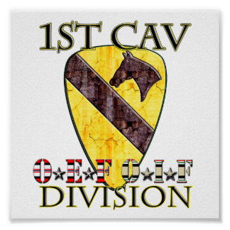 1st Cavalry Division OEF OIF Poster