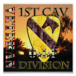 1st Cavalry Division OIF VETERAN Poster