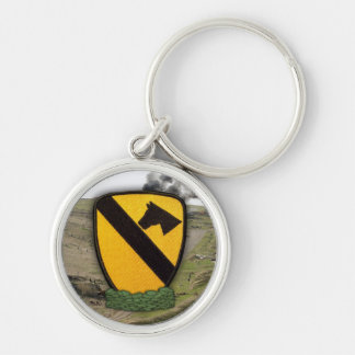 1st cavalry division patch air cav vets Keychain