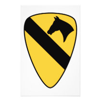 1st Cavalry Division Patch Patriotic Flyer