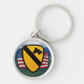 1st cavalry division patch veterans vets Keychain