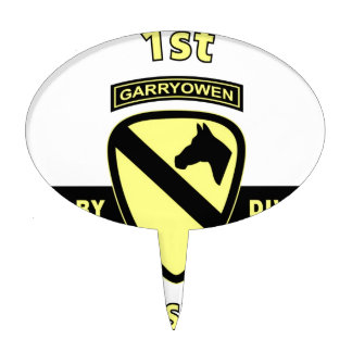 """1ST CAVALRY DIVISION """"THE FIRST TEAM"""" CAKE TOPPER"""