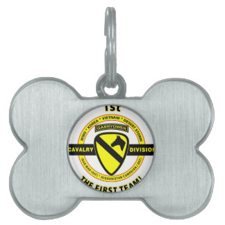 """1ST CAVALRY DIVISION """"THE FIRST TEAM"""" PET TAG"""