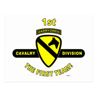 "1ST CAVALRY DIVISION ""THE FIRST TEAM"" POSTCARD"