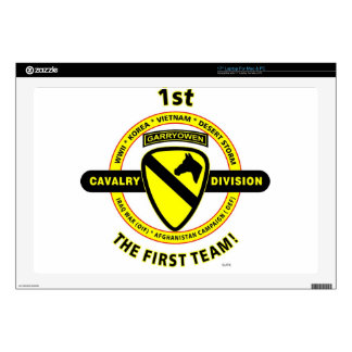 """1ST CAVALRY DIVISION """"THE FIRST TEAM"""" 17"""" LAPTOP SKIN"""