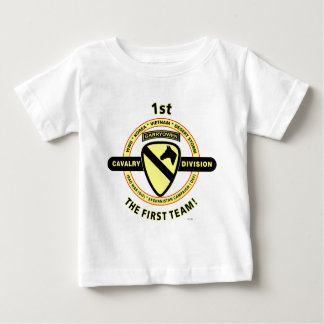 """1ST CAVALRY DIVISION """"THE FIRST TEAM"""" TEE SHIRT"""