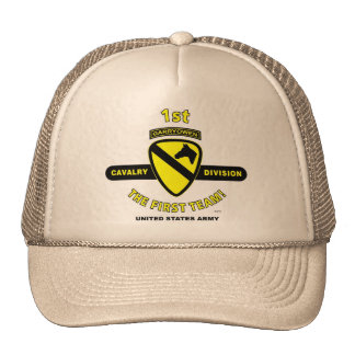 "1st Cavalry Division ""The First Team"" Trucker Cap Trucker Hat"