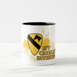 1st Cavalry Division Two-Tone Coffee Mug