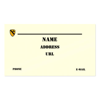 1st Cavalry Division vets patch business Card